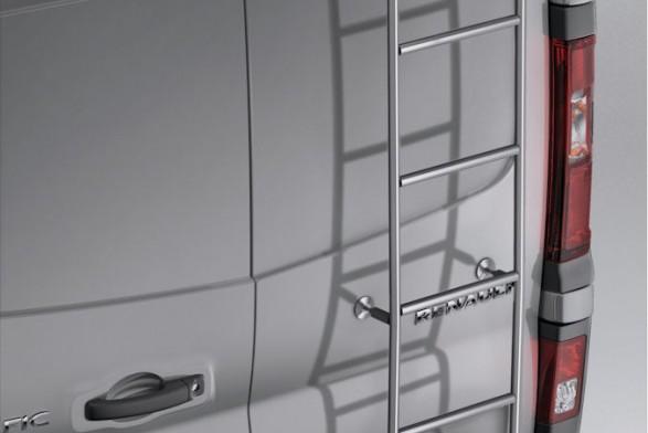 Galvanized steel ladder - swinging doors