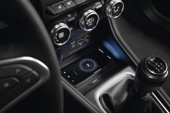 Induction charger for smartphones - centre console
