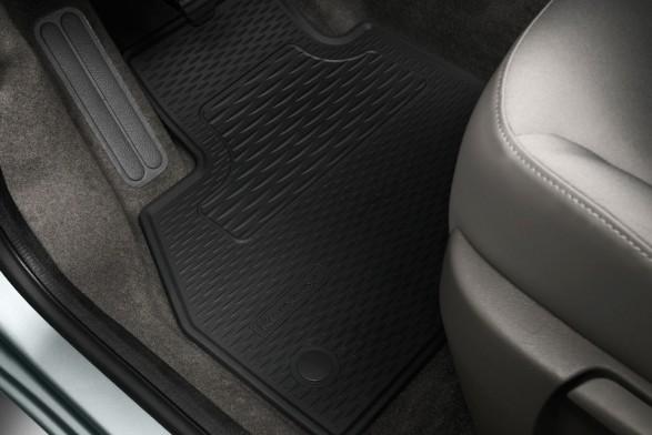 Rubber floor mats - front
