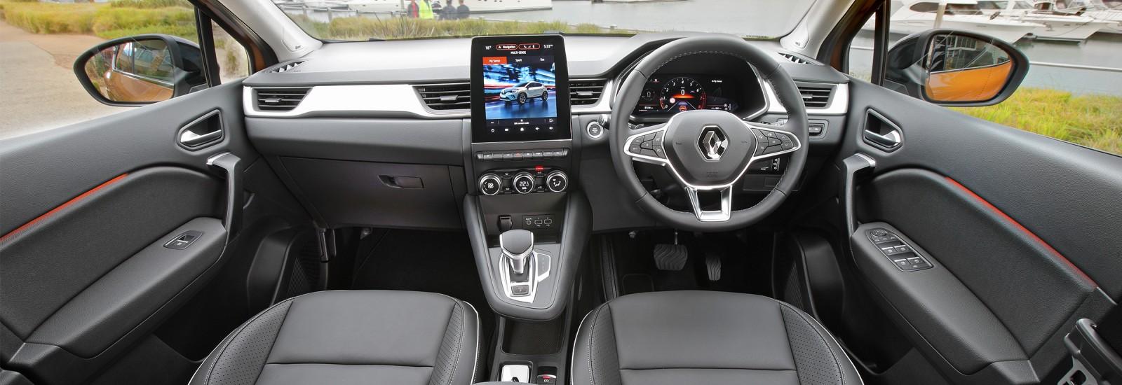 A sleek, intuitive interior